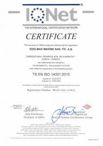 TS ISO EN 14001 2015 CERTIFICATE