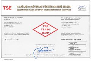 TSE TS ISO 45001