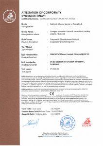 evaporator_koyulastirma_unitesi_ce_belgesi